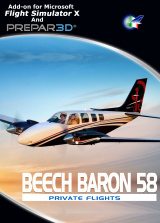 Perfect Flight - Private Flights - Beech Baron 58 FSX/P3D