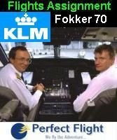 Flight Assignment KLM Fokker 70
