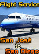Perfect Flight - Flight Service: San Josè to San Diego