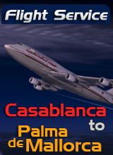 Flight Service AT664  Casablanca to Palma De Mallorca
