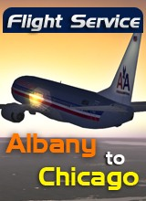 Perfect Flight - Flight Service AA503 - Albany to Chicago
