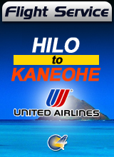 Flight Service  UA740 - Hilo to Kaneohe